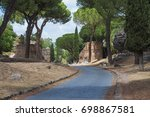 the via appia antica is the old ... | Shutterstock . vector #698867581