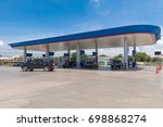 gas station on natural... | Shutterstock . vector #698868274
