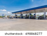 gas station on natural... | Shutterstock . vector #698868277