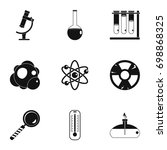 chemistry icon set. simple... | Shutterstock .eps vector #698868325