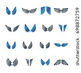 freedom wings emblems set.... | Shutterstock . vector #698872759