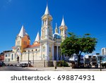 Small photo of Cathedral in Ilheus. Brazil. The Church was built in the seventeenth century and dedicated to the patron Ilheus, St. George.