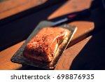 icelandic smoked salmon    Shutterstock . vector #698876935