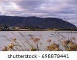 mountain and bay view in... | Shutterstock . vector #698878441