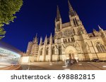 saint andre cathedral on place... | Shutterstock . vector #698882815