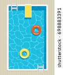 top view of pool with... | Shutterstock .eps vector #698883391