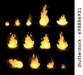 fire animation sprites flames... | Shutterstock .eps vector #698886931