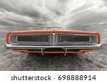 car under the cloudy sky. | Shutterstock . vector #698888914