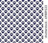 navy and white paw print paper | Shutterstock . vector #69889123