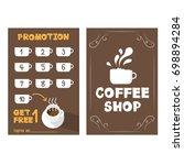 promotion coffee vector design  ... | Shutterstock .eps vector #698894284