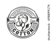 badge cotton illustration logo...   Shutterstock .eps vector #698899174