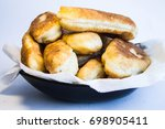 fried pies on the plate | Shutterstock . vector #698905411