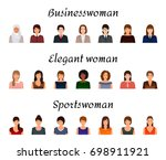 avatars characters set of... | Shutterstock . vector #698911921