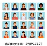 avatars characters set of... | Shutterstock . vector #698911924