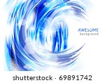 backgrounds - abstract waves and water splashes - stock vector