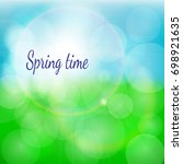 spring natural background with... | Shutterstock . vector #698921635