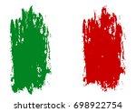 flag of italy  brush stroke... | Shutterstock .eps vector #698922754