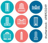 building icons set. vector... | Shutterstock .eps vector #698923249