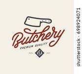 Butcher Shop Emblem. Butchery...
