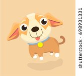 chihuahua dog. | Shutterstock .eps vector #698931331