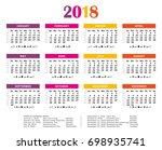 2018 summer colors vector... | Shutterstock .eps vector #698935741