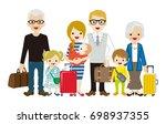traveling multi generation... | Shutterstock .eps vector #698937355