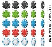 poker chips vector. flip... | Shutterstock .eps vector #698937544