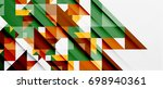triangle pattern design... | Shutterstock .eps vector #698940361