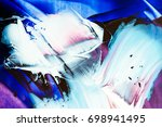 painted abstract background | Shutterstock . vector #698941495