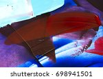 painted abstract background | Shutterstock . vector #698941501