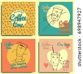 collection of coffee design... | Shutterstock .eps vector #698947927