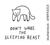 don't wake the sleeping beast... | Shutterstock .eps vector #698953315