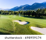 green meadow   golf club | Shutterstock . vector #698959174