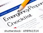emergency preparedness... | Shutterstock . vector #698961514