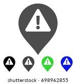 warning map marker flat vector...