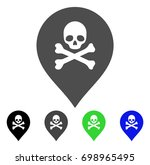 death marker flat vector icon.... | Shutterstock .eps vector #698965495