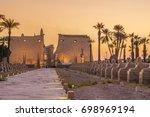 twilight from luxor temple | Shutterstock . vector #698969194