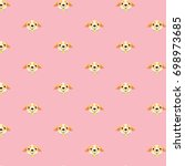 seamless vector pattern with... | Shutterstock .eps vector #698973685