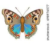 vector drawing bright... | Shutterstock .eps vector #698976577