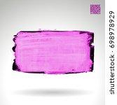 purple brush stroke and texture.... | Shutterstock .eps vector #698978929