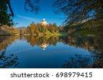 autumn afternoon at trakoscan... | Shutterstock . vector #698979415
