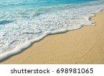 beautiful wave of ocean on the... | Shutterstock . vector #698981065