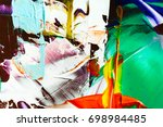 painted abstract background | Shutterstock . vector #698984485