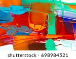 painted abstract background | Shutterstock . vector #698984521