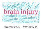 brain injury word cloud on a... | Shutterstock .eps vector #699004741