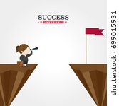 success vector   Shutterstock .eps vector #699015931