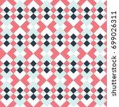 seamless geometric vintage... | Shutterstock .eps vector #699026311