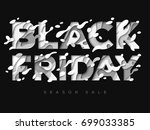 black friday sale poster with... | Shutterstock .eps vector #699033385
