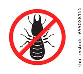 graphic anti termite  vector | Shutterstock .eps vector #699038155