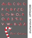 christmas font from candies and ... | Shutterstock . vector #69904288